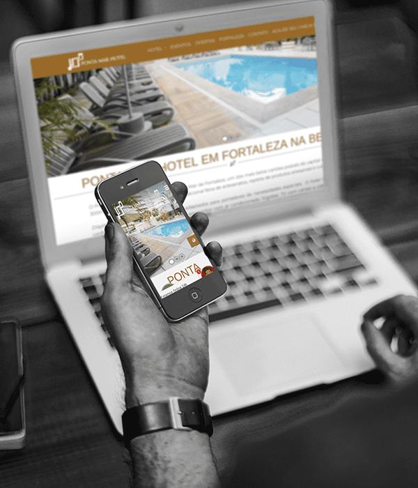 Portfólio Hotel site BeeWeb